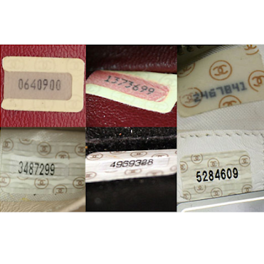 Example of Chanel serial numbers.
